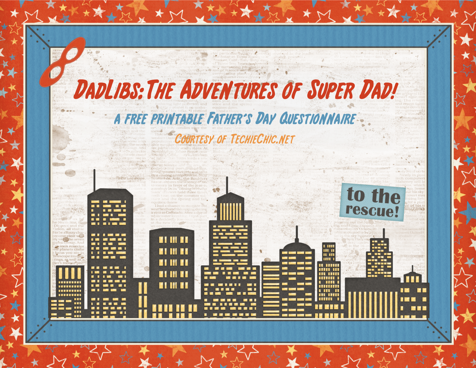 DadLibs: A free printable father's day questionnaire/story